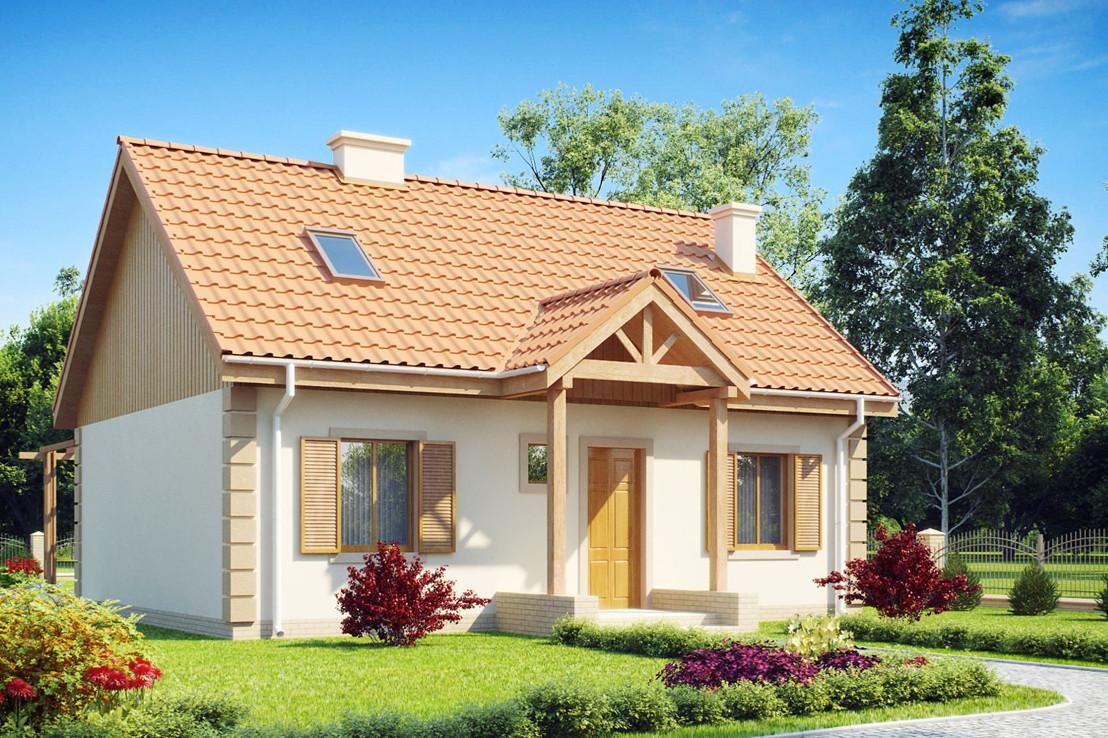 Проект дома 037N (фото фасада 1)