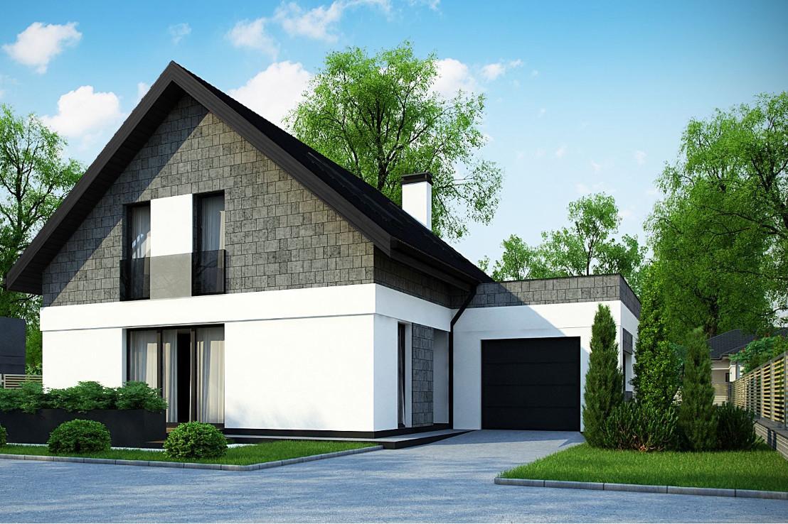 Проект дома 040N (фото фасада 1)