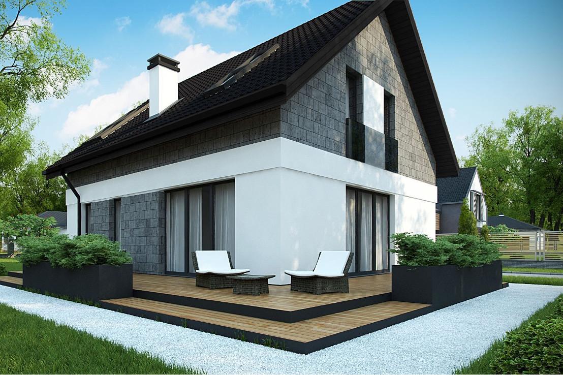 Проект дома 040N (фото фасада 2)