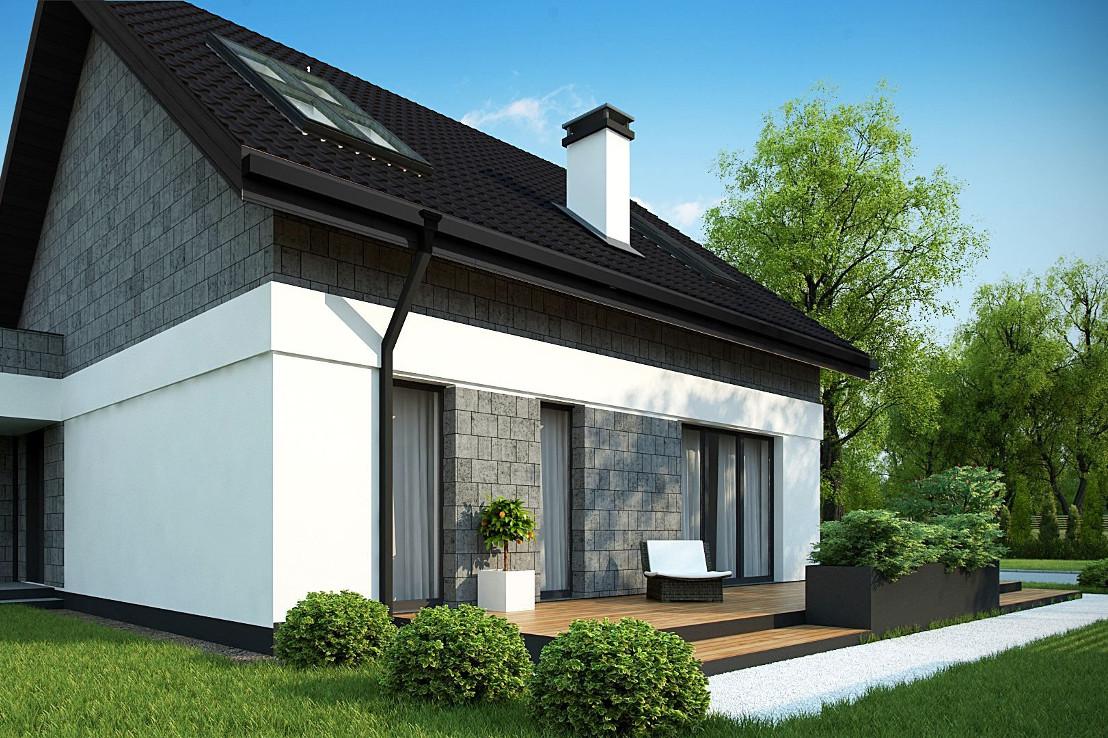 Проект дома 040N (фото фасада 3)