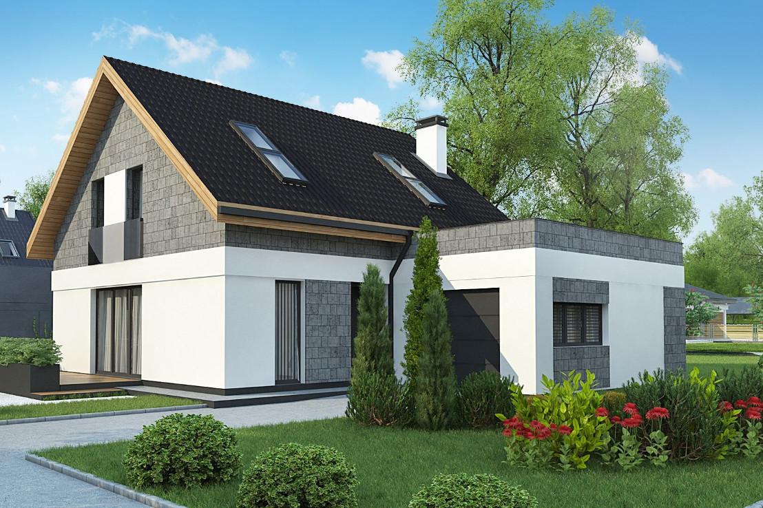 Проект дома 040N (фото фасада 4)