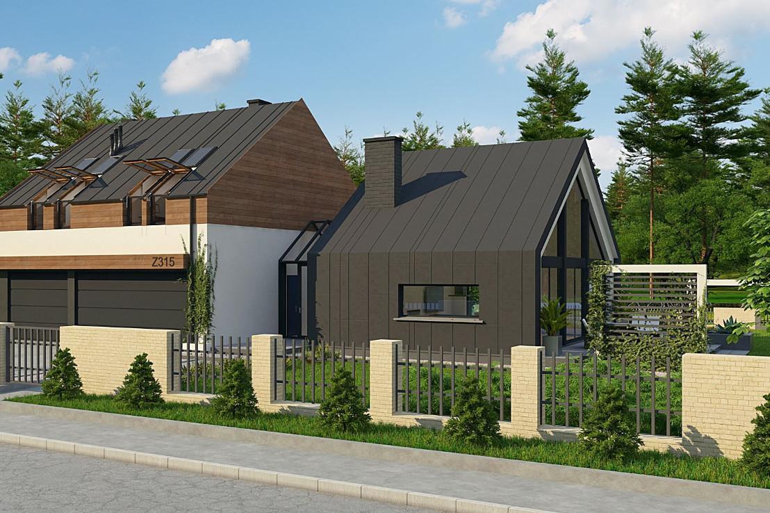 Проект дома 041N (фото фасада 1)