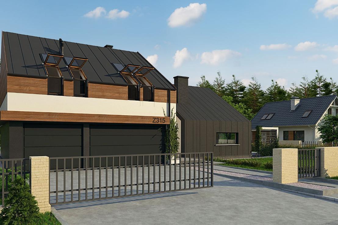 Проект дома 041N (фото фасада 2)