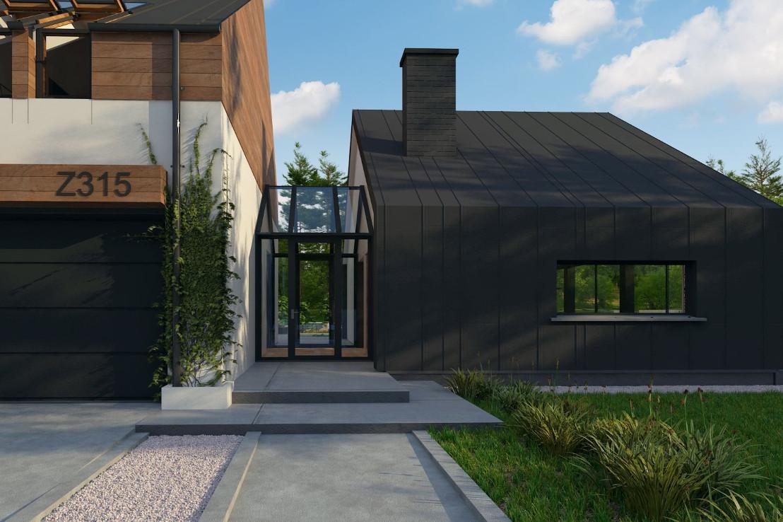 Проект дома 041N (фото фасада 3)
