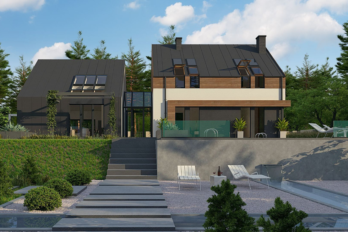 Проект дома 041N (фото фасада 4)