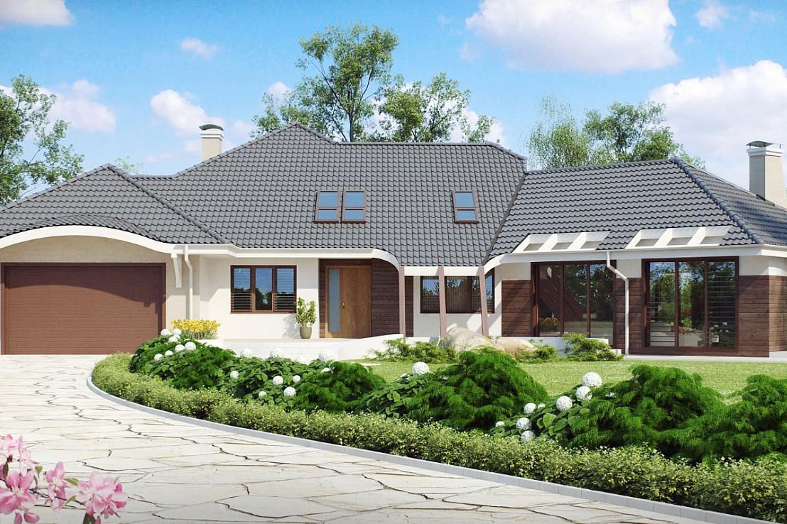 Проект дома 046N (фото фасада 1)