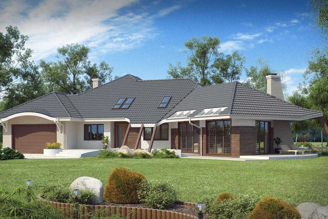 Проект дома 046N (фото фасада 2)