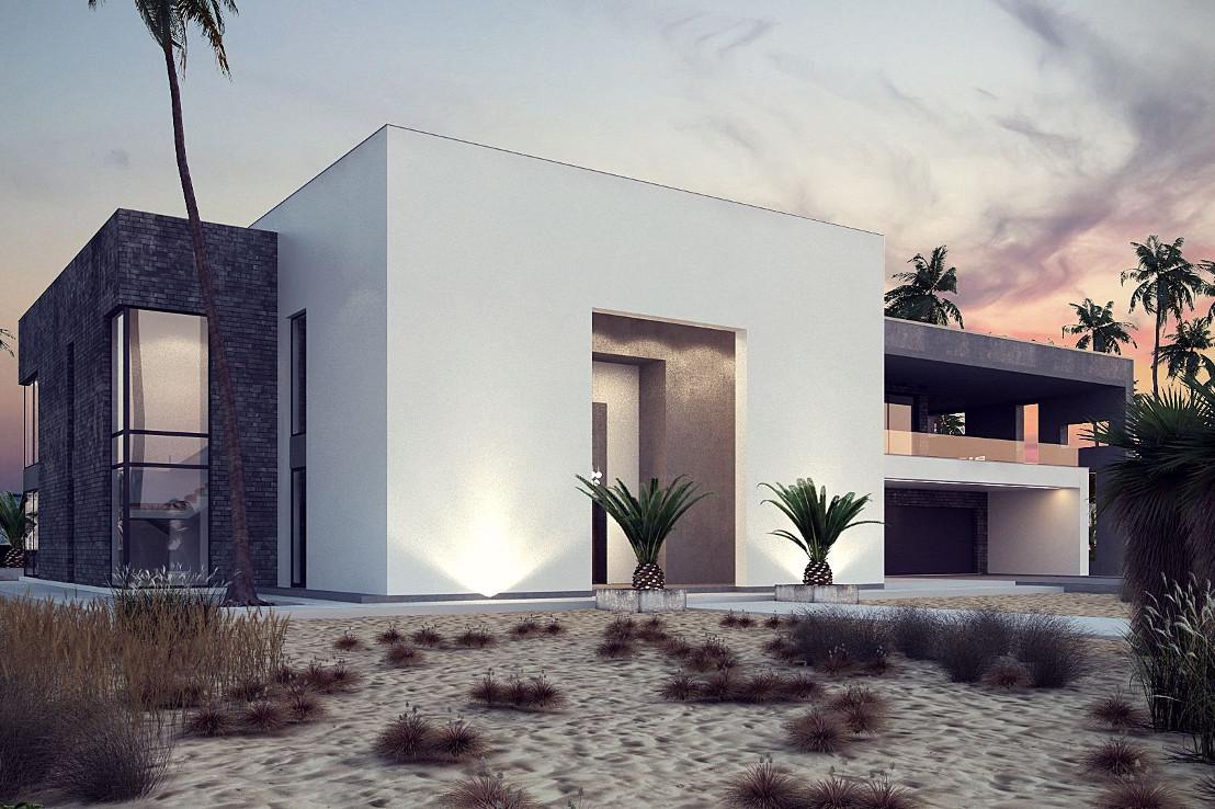 Проект дома 047N (фото фасада 1)