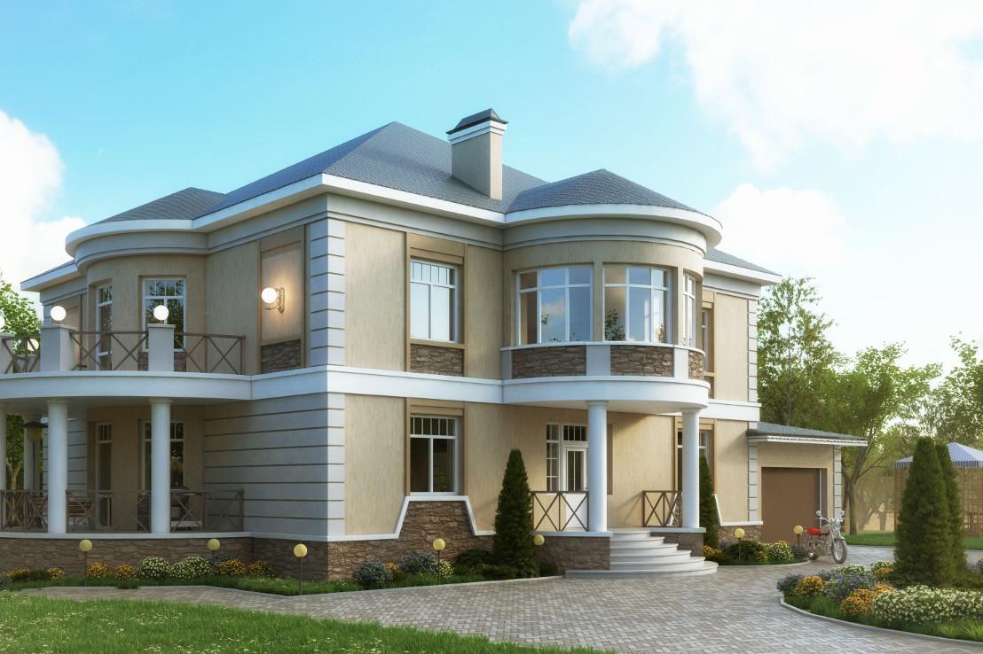 Проект дома 050N (фото фасада 1)