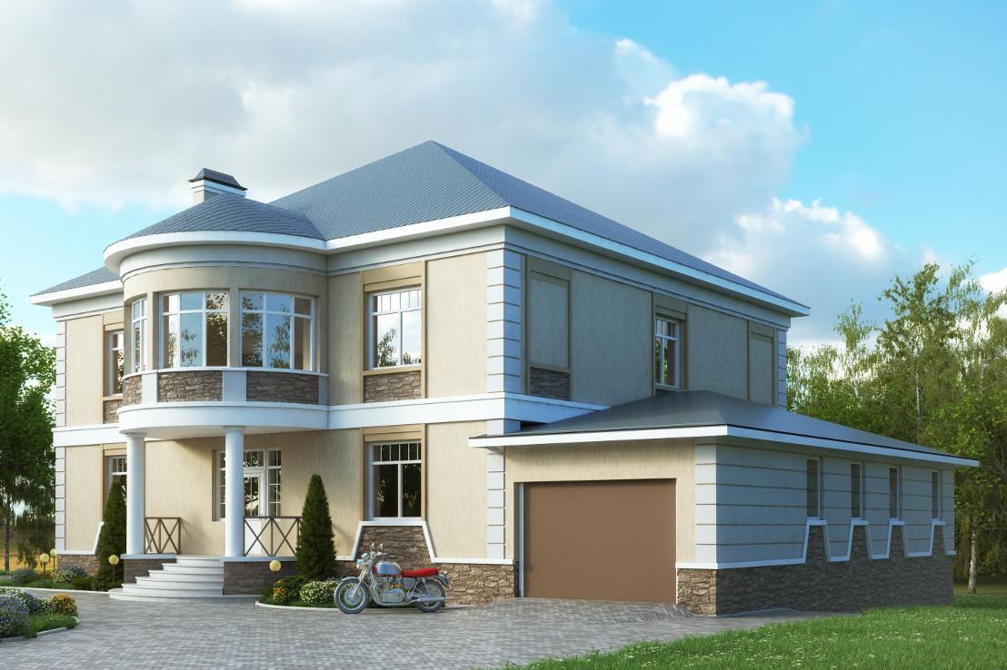 Проект дома 050N (фото фасада 2)