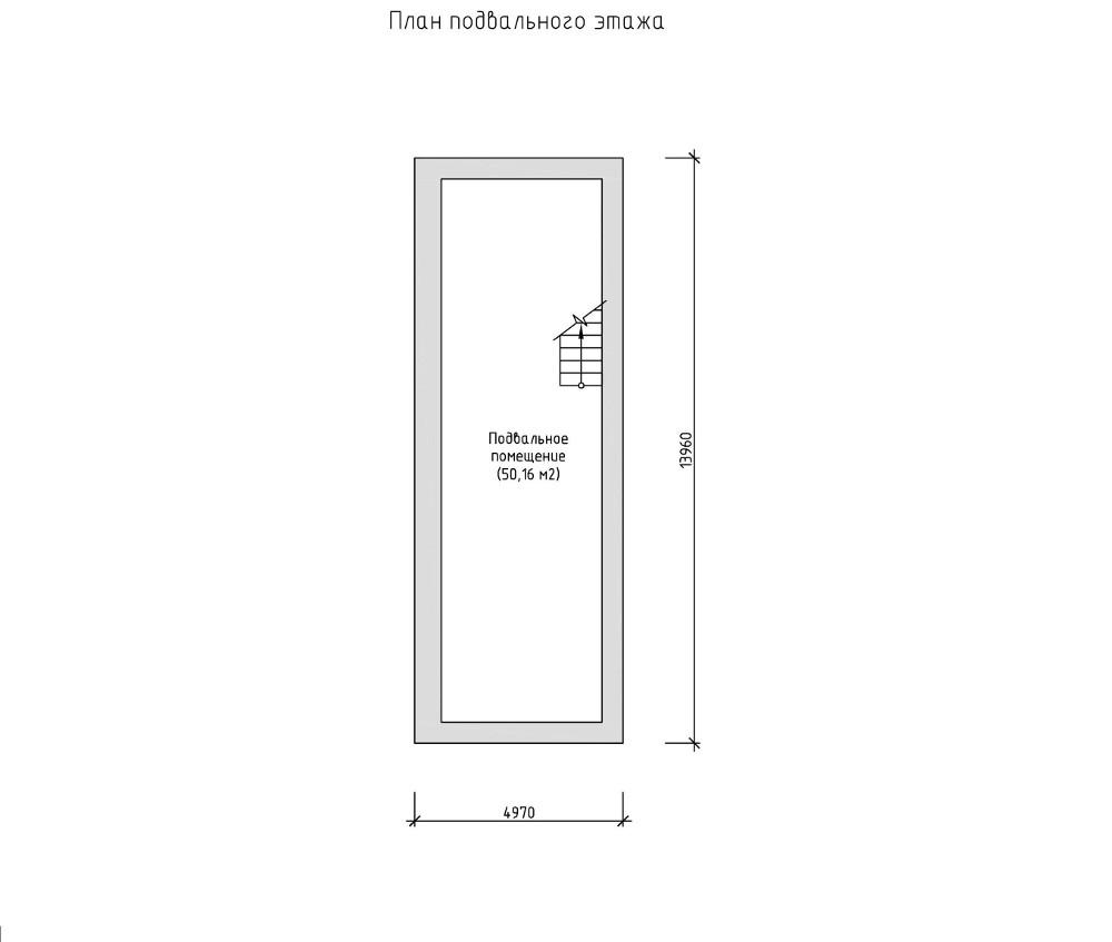 Проект дома 050N (план цоколя)