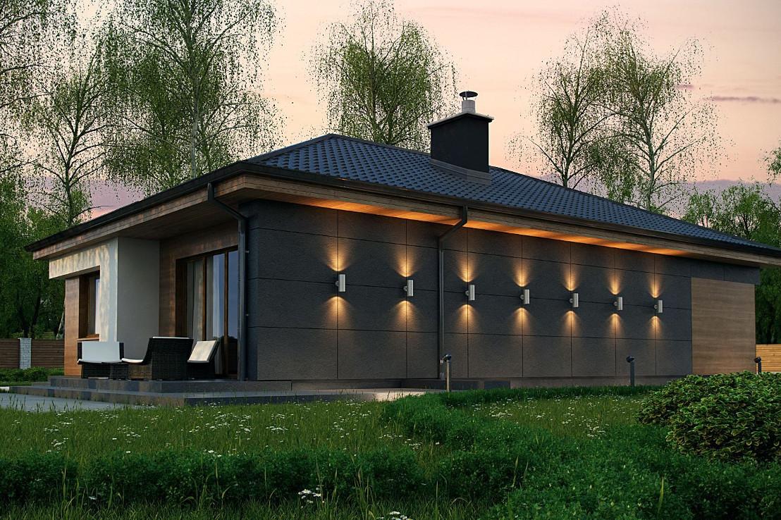 Проект бани 064N (фото фасада 2)