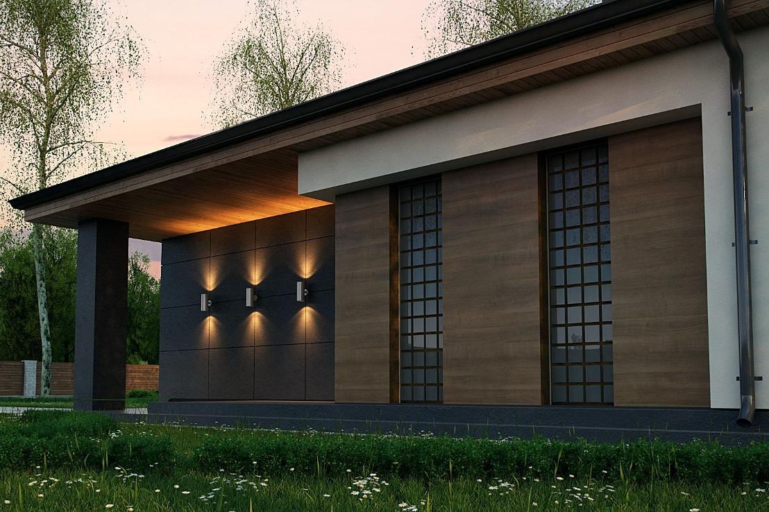 Проект бани 064N (фото фасада 3)