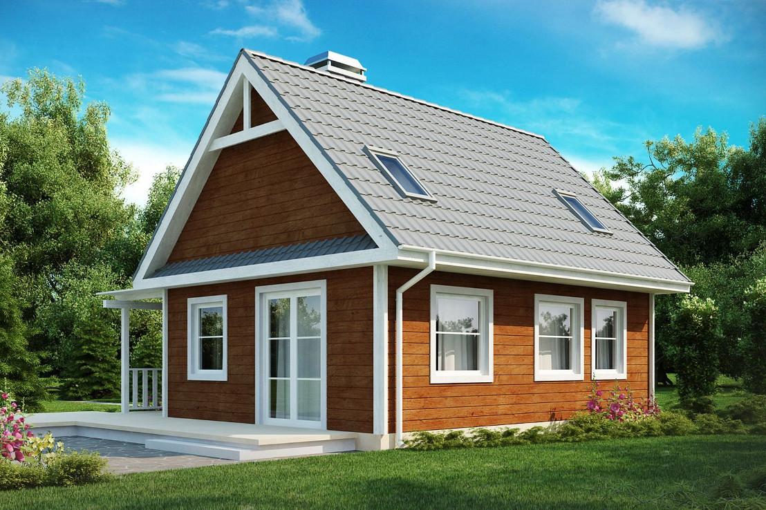 Проект дома 051N (фото фасада 2)