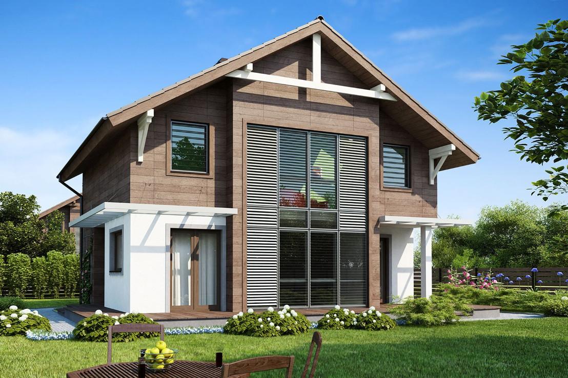 Проект дома 052N (фото фасада 1)