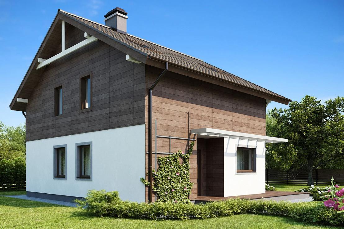 Проект дома 052N (фото фасада 2)