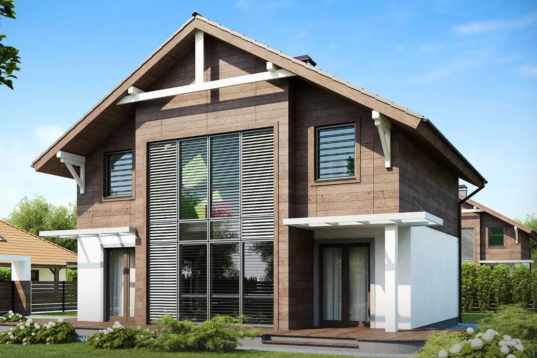 Проект дома 052N (фото фасада 3)