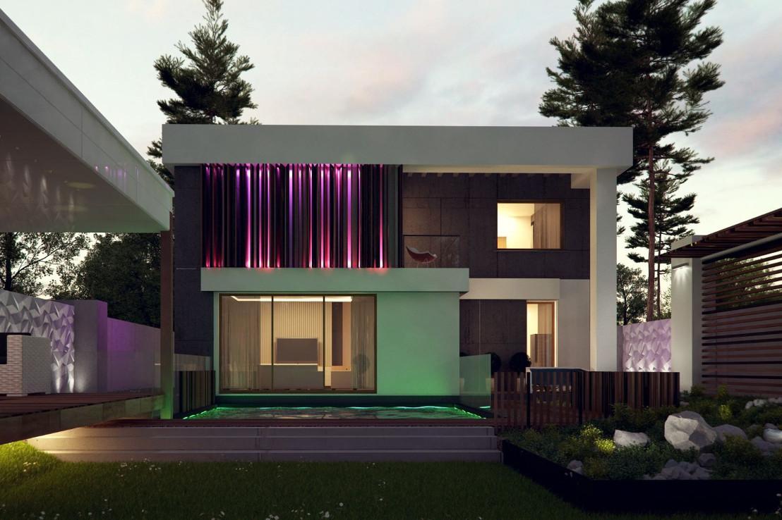 Проект дома 054N (фото фасада 1)