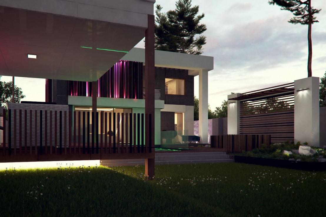 Проект дома 054N (фото фасада 2)