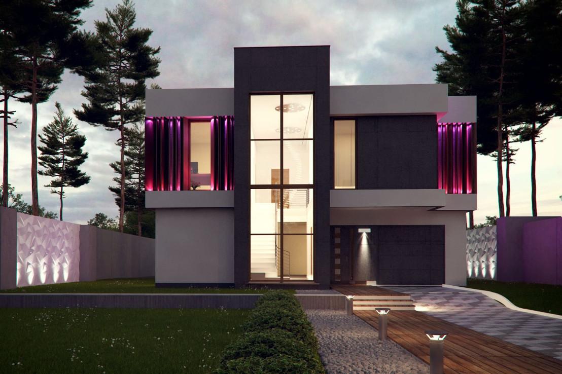 Проект дома 054N (фото фасада 3)