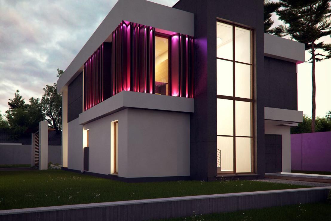Проект дома 054N (фото фасада 4)
