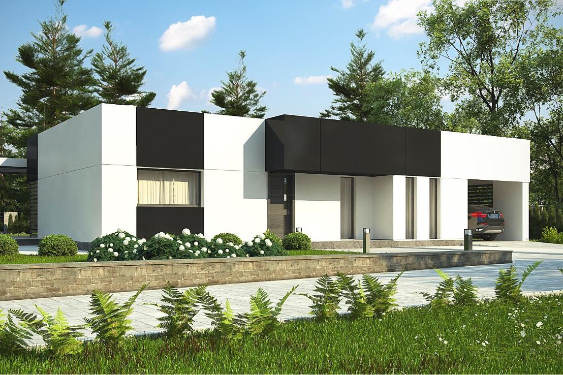 Проект дома 055N (фото фасада 1)