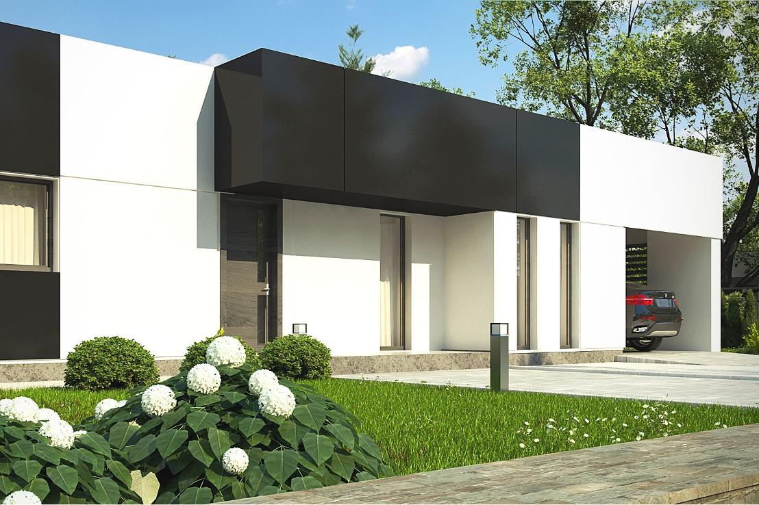 Проект дома 055N (фото фасада 2)