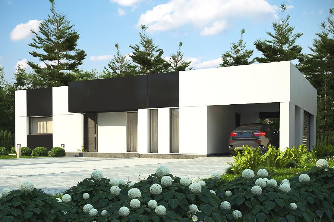 Проект дома 055N (фото фасада 3)