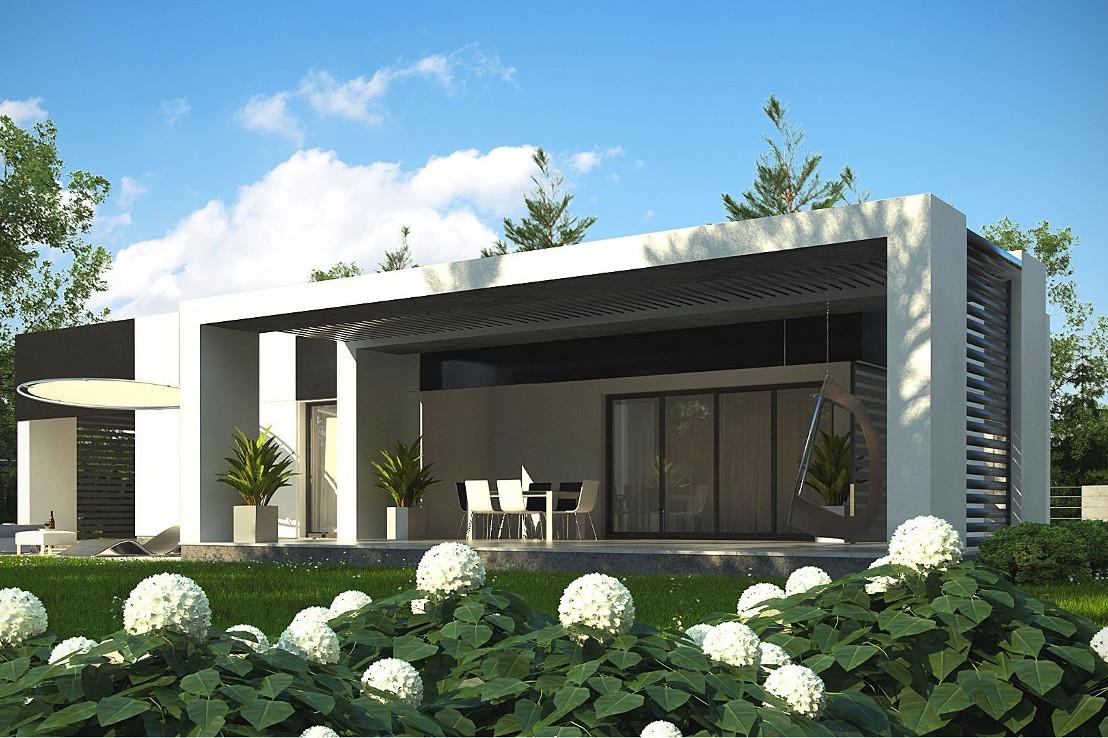 Проект дома 055N (фото фасада 4)