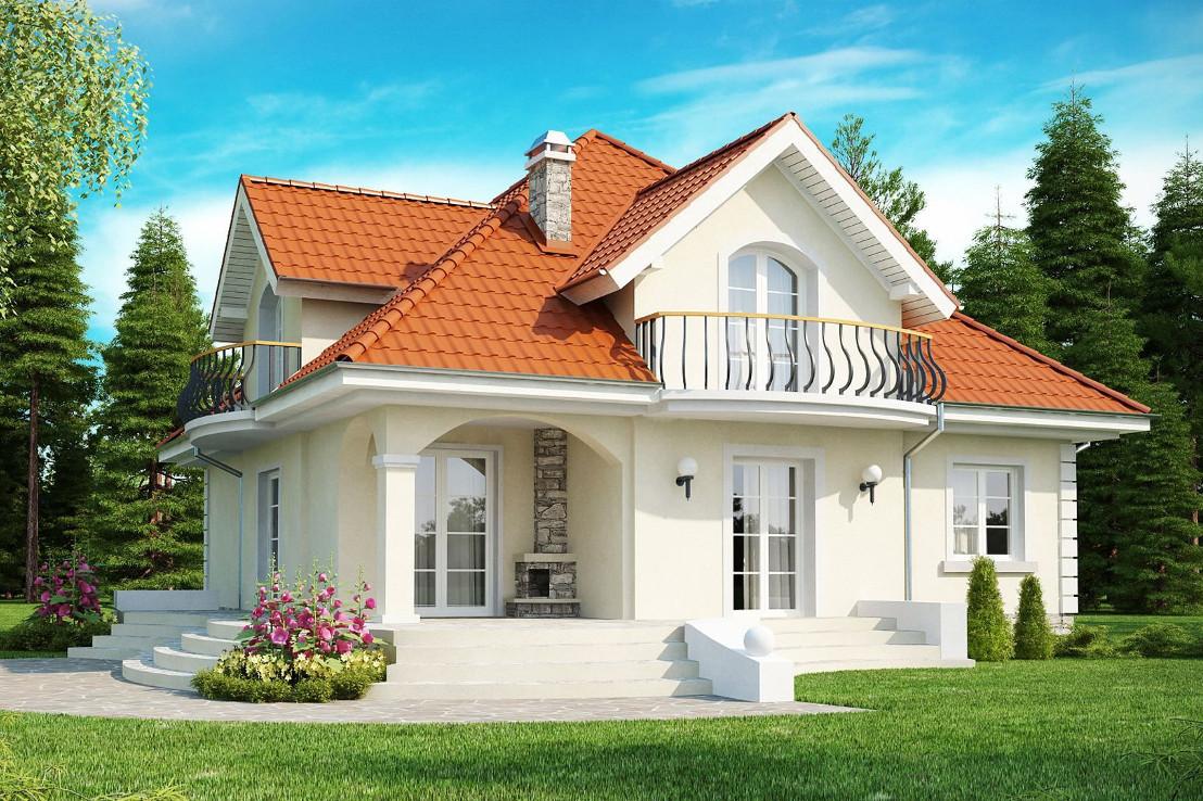 Проект дома 058N (фото фасада 1)