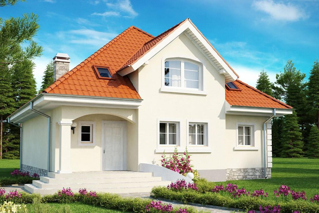 Проект дома 058N (фото фасада 2)