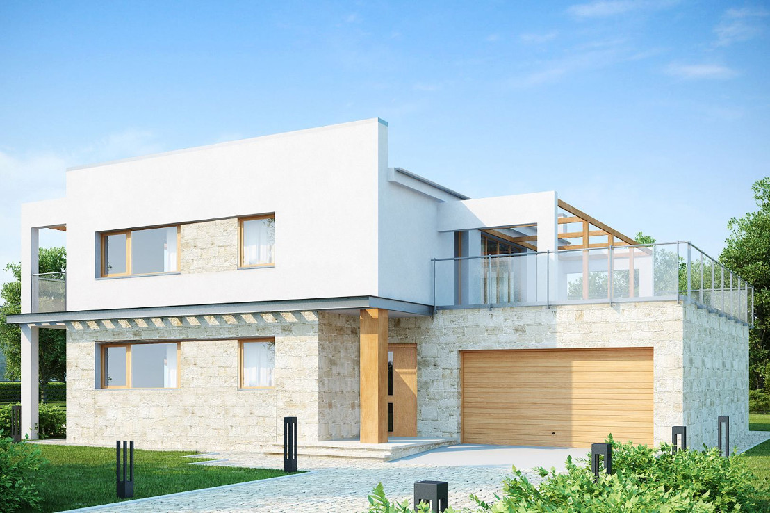Проект дома 059N (фото фасада 1)