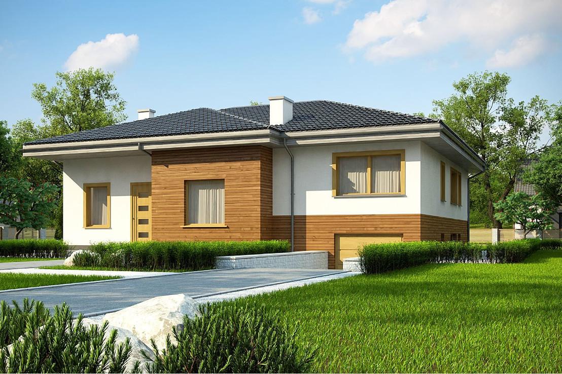 Проект дома 061N (фото фасада 1)