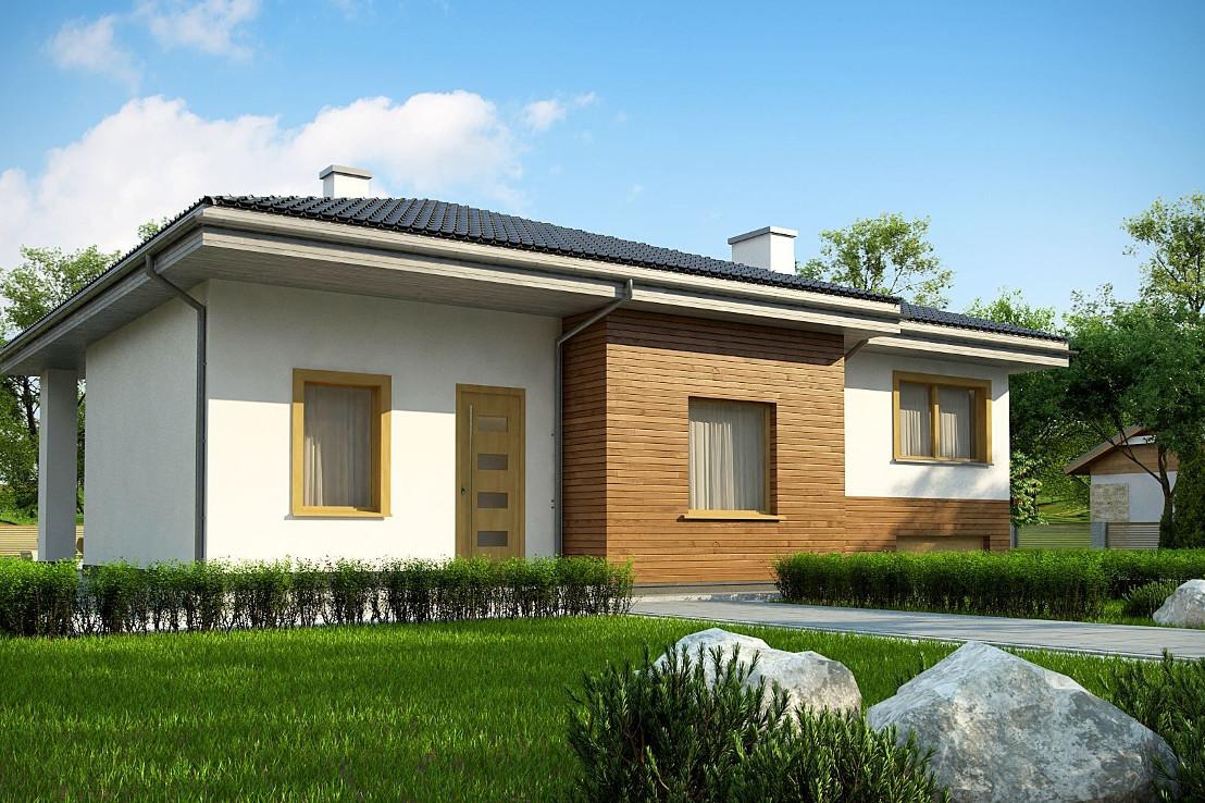 Проект дома 061N (фото фасада 2)