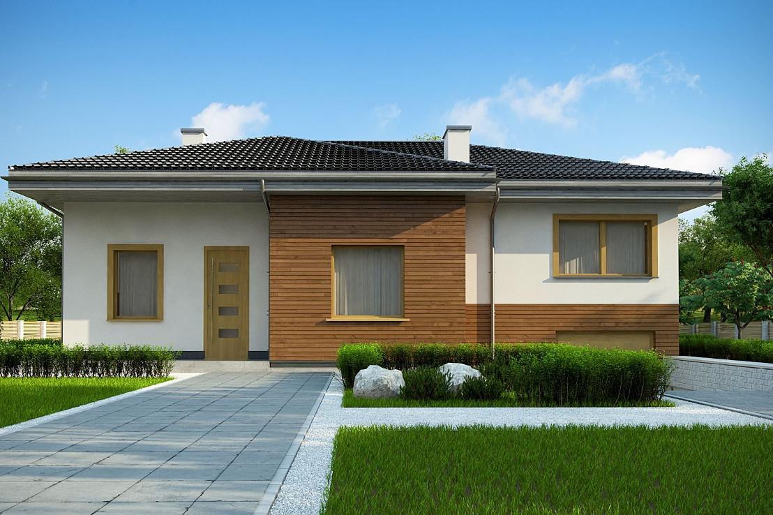 Проект дома 061N (фото фасада 3)