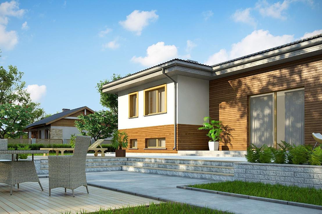 Проект дома 061N (фото фасада 4)