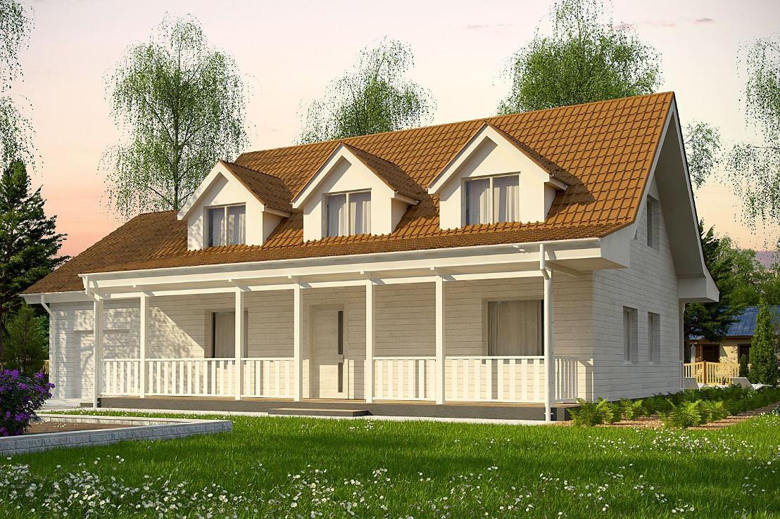 Проект дома 062N (фото фасада 1)