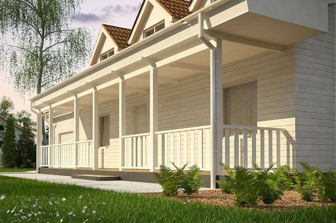Проект дома 062N (фото фасада 2)