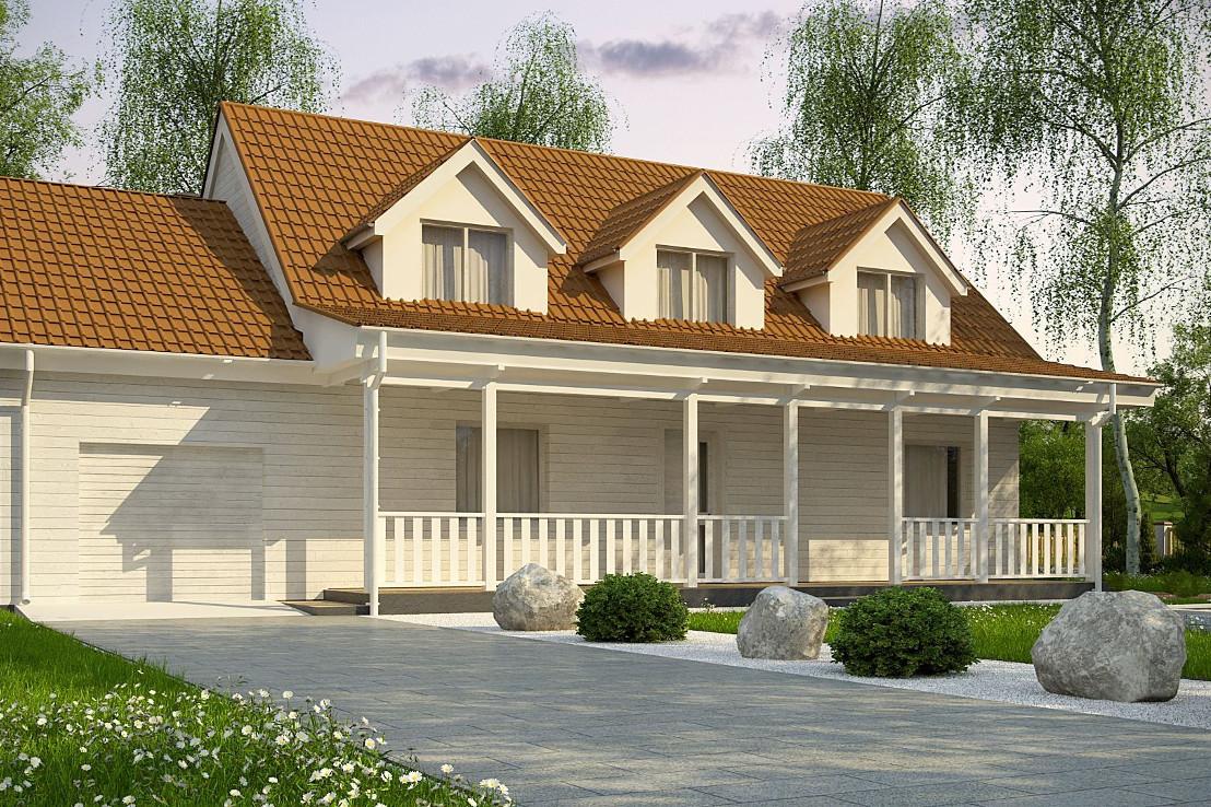 Проект дома 062N (фото фасада 3)