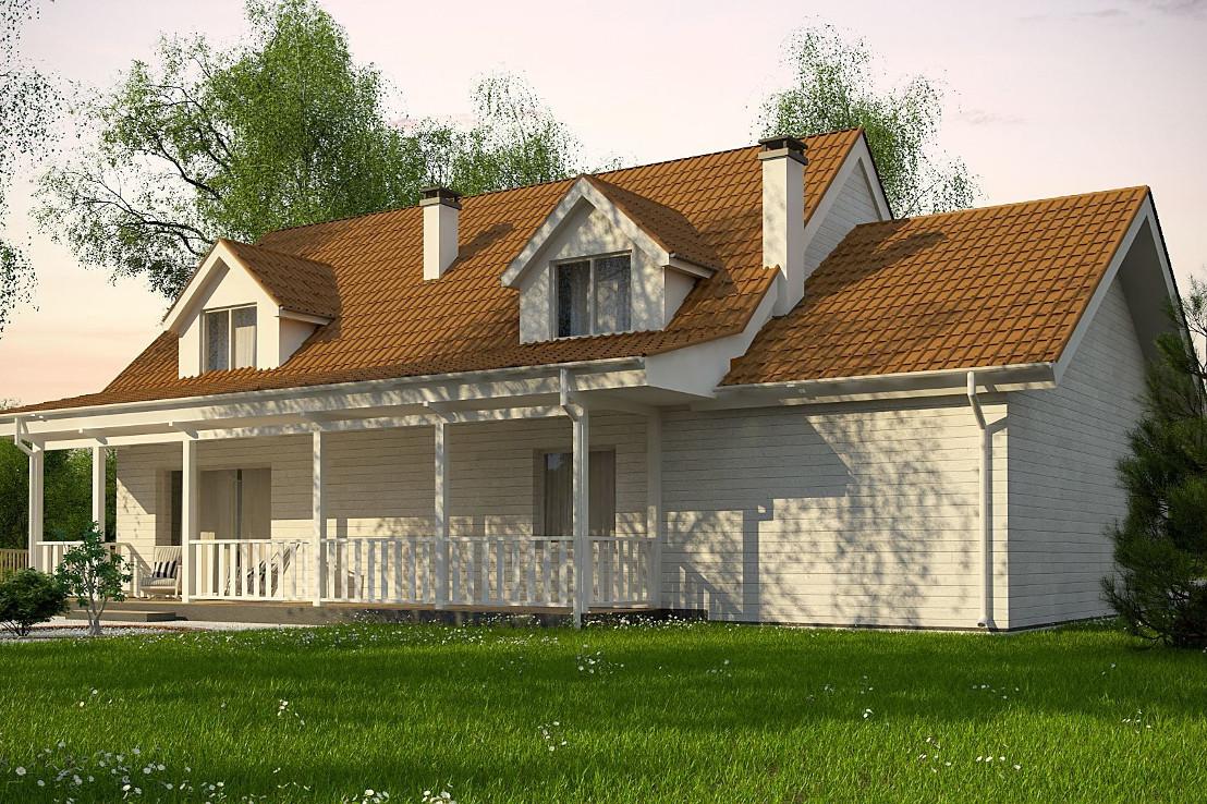 Проект дома 062N (фото фасада 4)