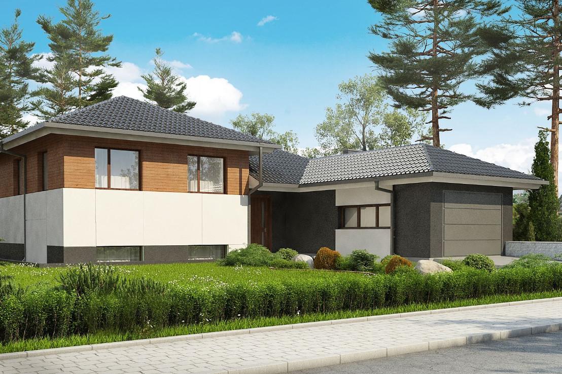 Проект дома 063N (фото фасада 1)