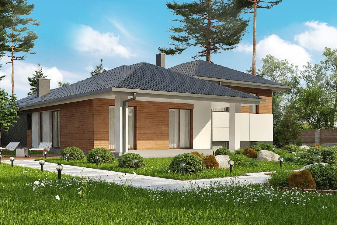 Проект дома 063N (фото фасада 2)