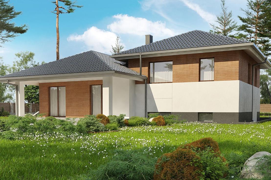 Проект дома 063N (фото фасада 3)