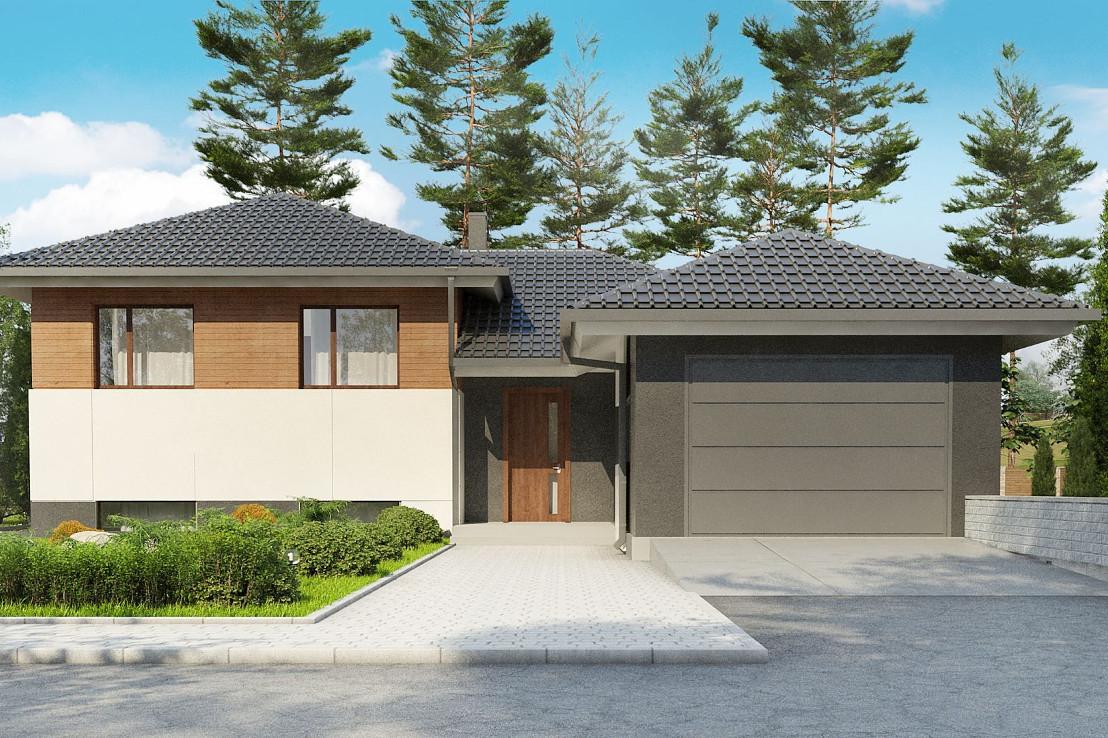 Проект дома 063N (фото фасада 4)