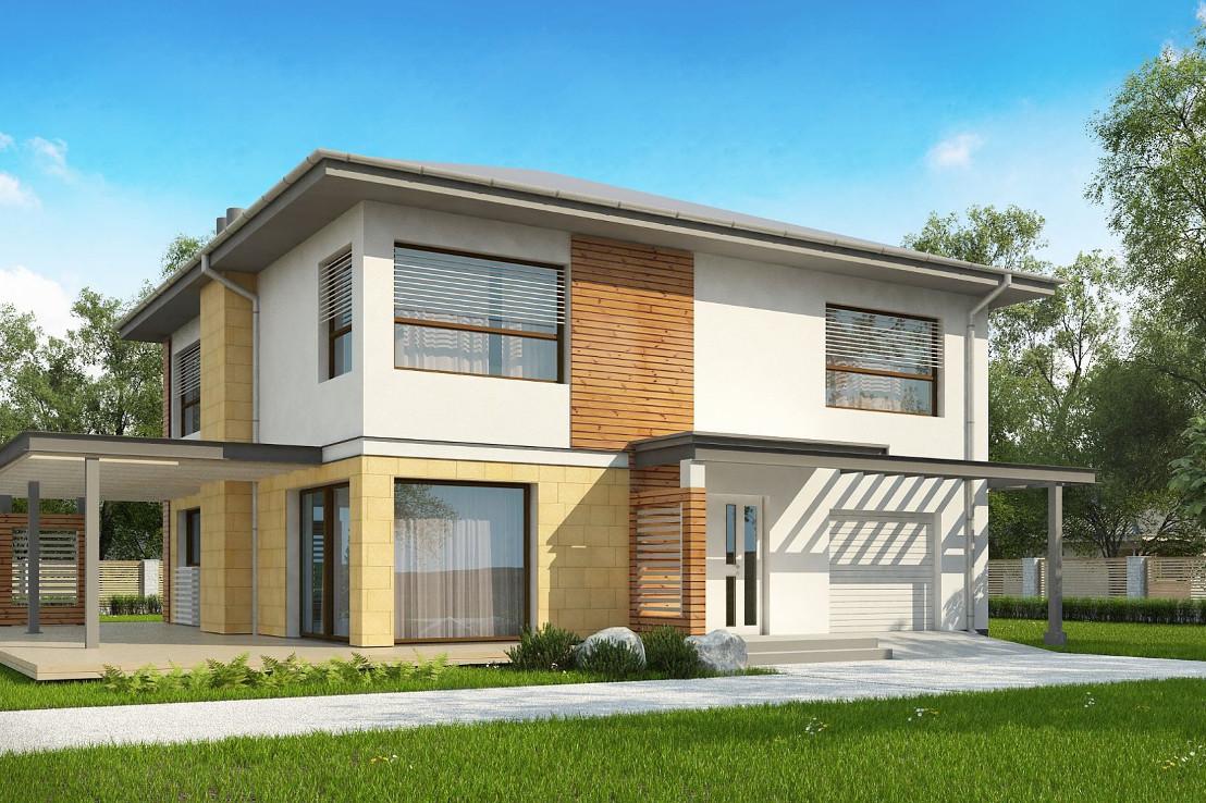 Проект дома 065N (фото фасада 1)