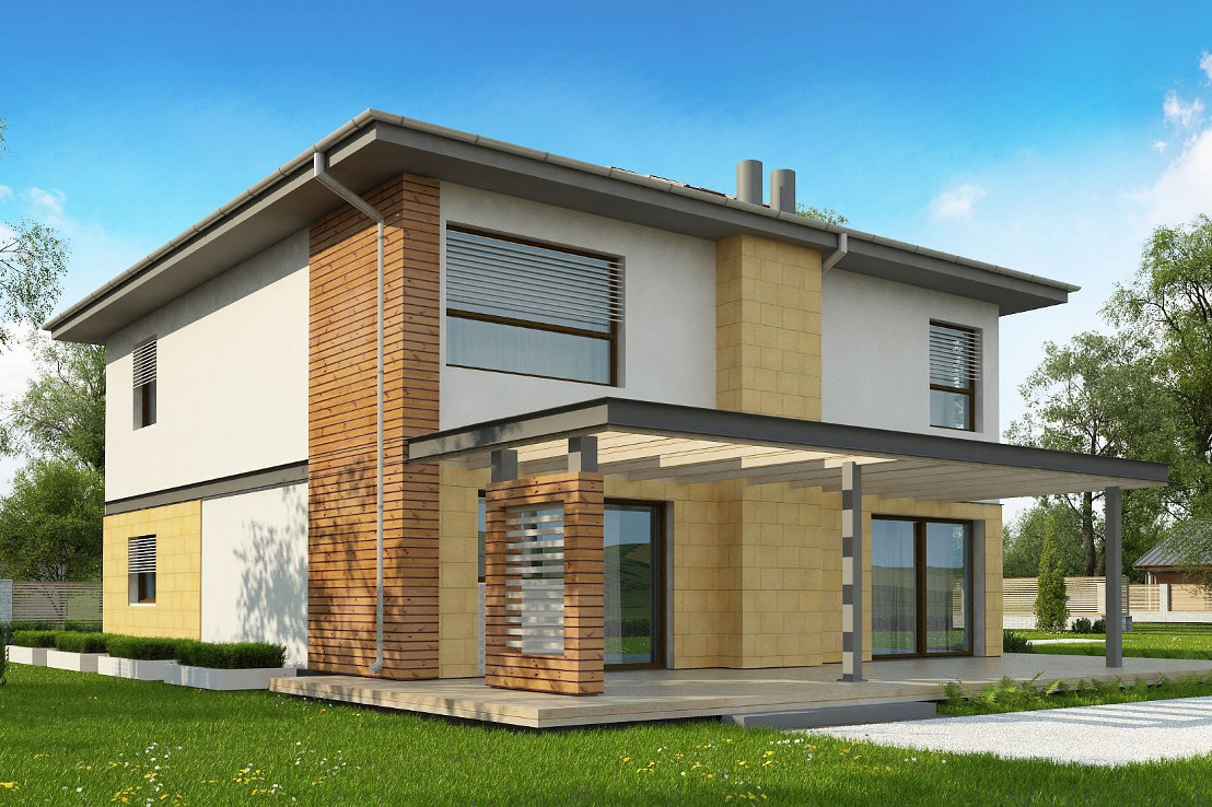 Проект дома 065N (фото фасада 2)
