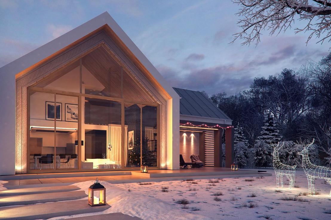 Проект дома 067N (фото фасада 1)