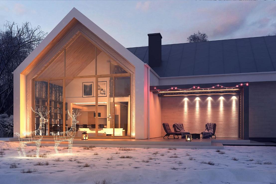 Проект дома 067N (фото фасада 2)