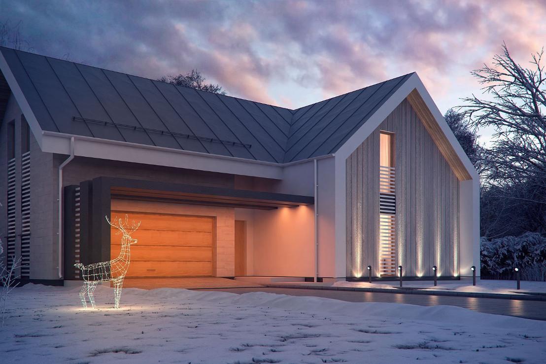 Проект дома 067N (фото фасада 3)