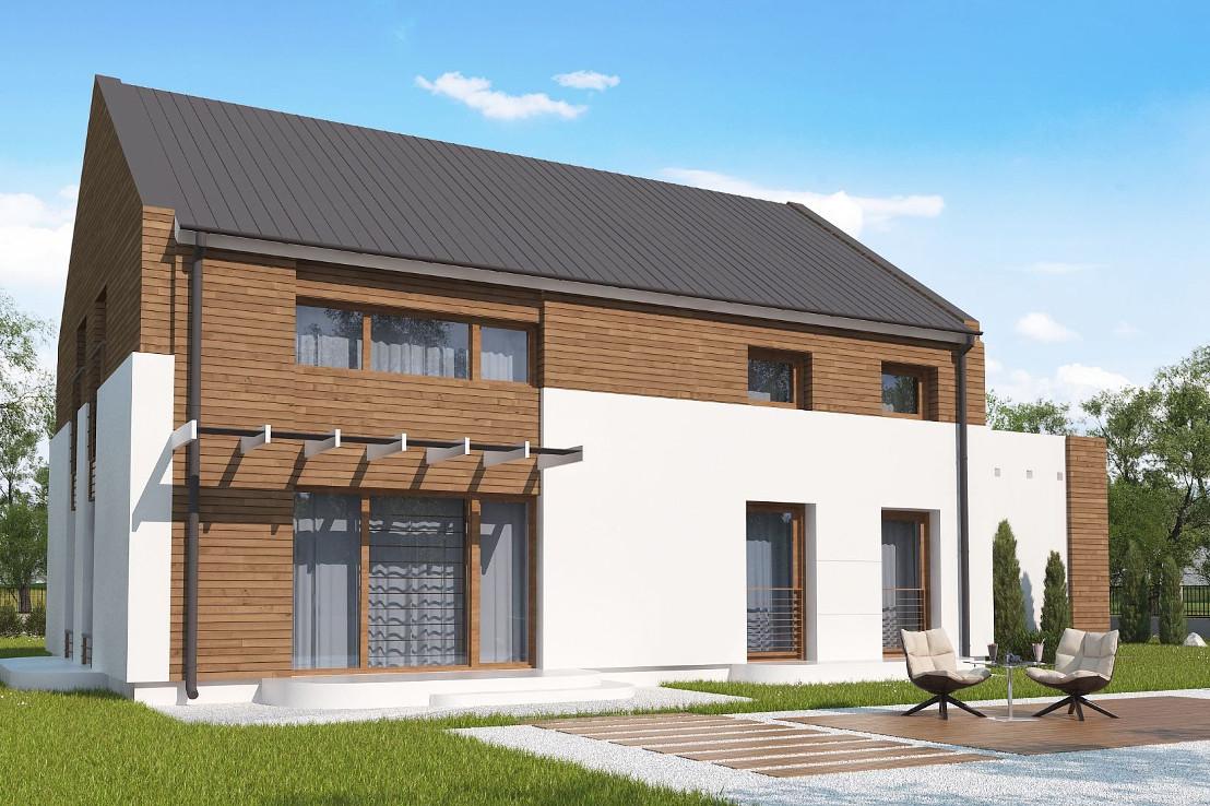 Проект дома 069N (фото фасада 2)